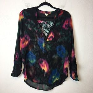 Anthro Tiny Multicolor Blouse Size Large